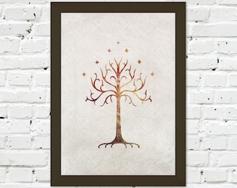 0029 Lord of the Rings Tree of Gondor Poster A3 Art Print – Any Size Available