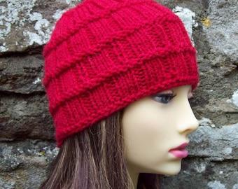 KNITTING PATTERN/FARMERS Bushel Basket Woolen Beanie Hat for Men and Women/Knit Round/ IntermediateLevel