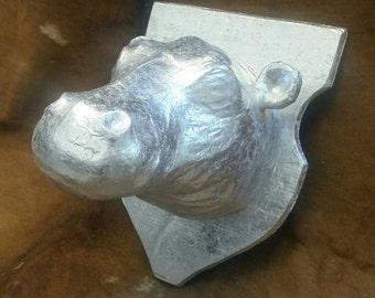 Faux taxidermy hippo