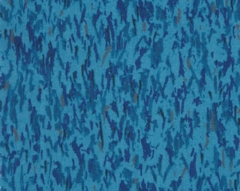 SALE/LIBERTY Of LONDON Tana Lawn Cotton Fabric  'Joshua Graham' Blue Lg Fat Quarter 18 X 26 in