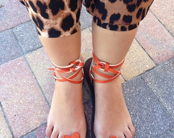 Forget Me Knot Sandal - Orange