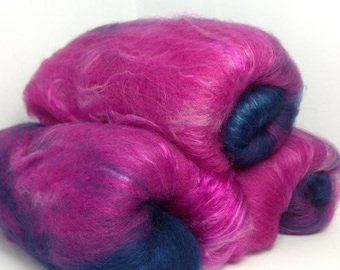 Belfry Batt - Lurid Grape -Merino and Silk