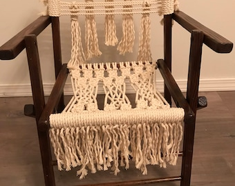 Macrame Fold-Up Children's Chair