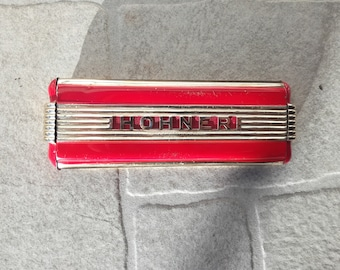 Vintage Rare red Harmonica made by HOHNER VINTAGE 1930's Hohner Echo Elite Harmonica - German Art Deco Style