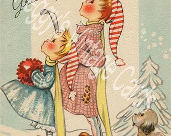 390 Vintage Christmas Greeting Card Images on CD Vol 6