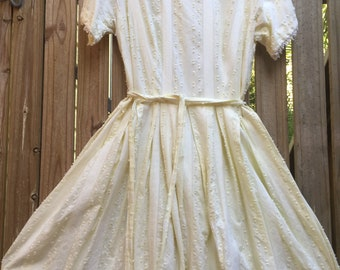 Vintage 50's swiss cotton dress