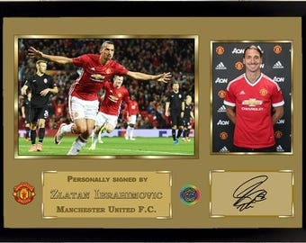 Zlatan Ibrahimovic signed autographed Football Memorabilia picture With Frame Manchester United FC