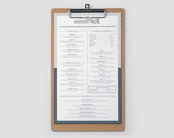 Custom menu - Custom menu design - Two sided menu design - Custom two sided menu design - Food menu - Restaurant menu - Graphic design