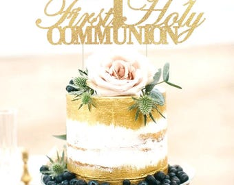 First Holy Communion Cake Topper, First Communion Cake Topper, First Communion Cake, Religious Cake Decoration, First Communion Centerpieces