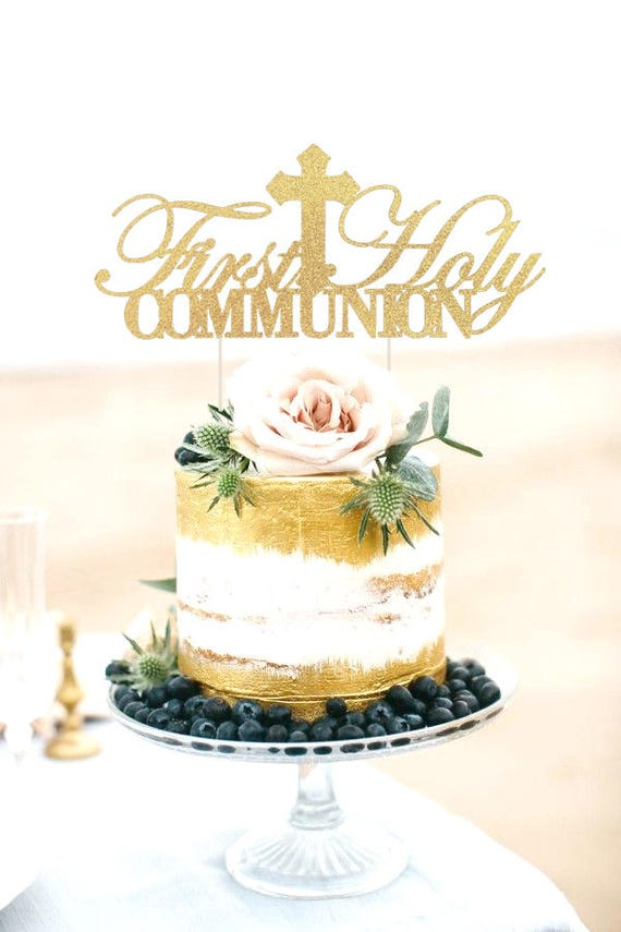 First Holy Communion Cake Topper First Communion Cake Topper