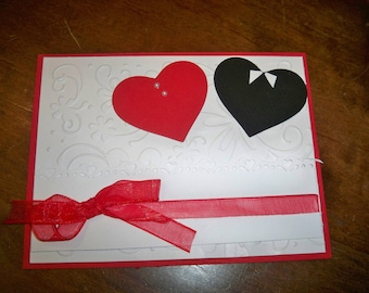 card with two hearts