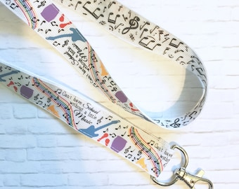 Cant Have School Without A Little Music~ Keychain, Lanyard, or Breakaway Lanyard (Music Band Teacher Appreciation Gift)