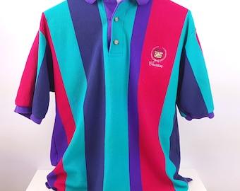 Color Block Polo Shirt Vintage 90s Hip Hop