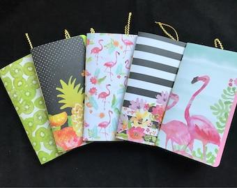 Travelers Notebook Insert, Junk Journal, Travel Journal - Handmade in Tropical colors