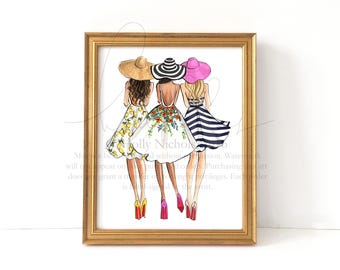 See you at the Derby (Fashion Illustration Print)