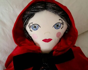 Fabric doll, cloth doll, heirloom doll, art doll, collectible doll, storybook doll, fairytale doll, handmade doll, rag doll