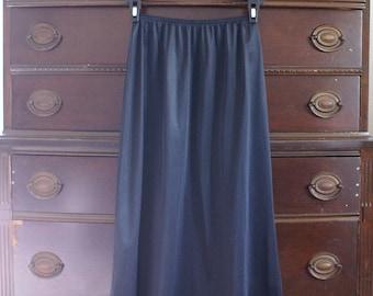 Black slip -small half slip - black lingerie - midi slip