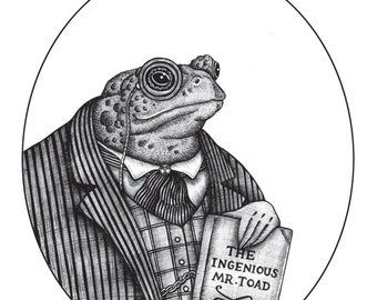 Mr Toad / Wind in the Willows A5 Print