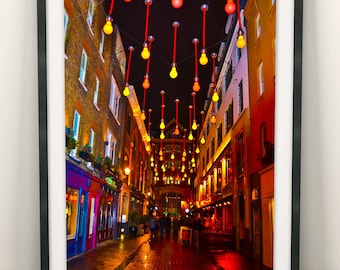 London Print Soho Street Lights (Limited Edition of 100) - A3 London Poster Street Art England UK Street Lamps Print Decor Wall Art Gift