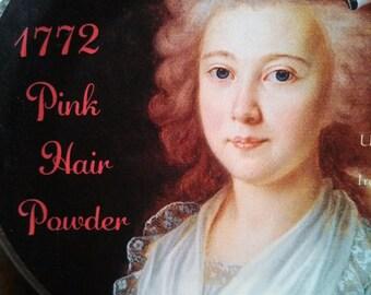 18th Century Pink Hair and Blush Powder- Crushed Rose Petals- Modern Label