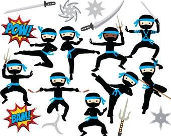 ninja clipart ninja clip art girls karate martial arts cute rh etsy com logo ninja clipart logo ninja clipart