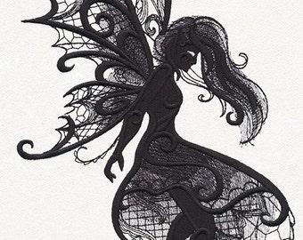 Dark Creatures - Fairy fleece blanket