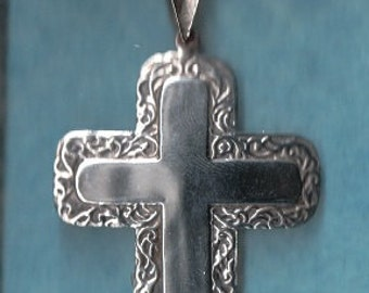 Estate Sterling Repousse Cross