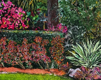 Tropical Ranch Botanical Gardens 4.25 in x 5.50 in