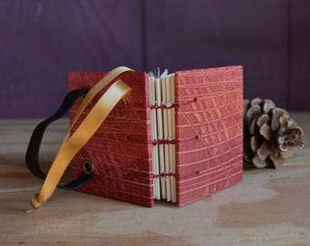 Book Ornament with Red and Orange Covers, Perfect Gift and Stocking Stuffer for Readers, Artists, Writers and