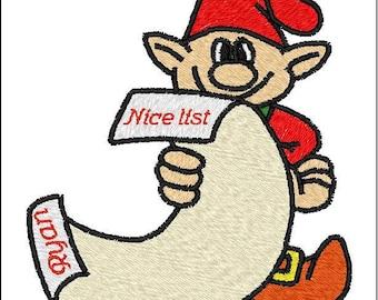 Santa's Nice List Elf customizable