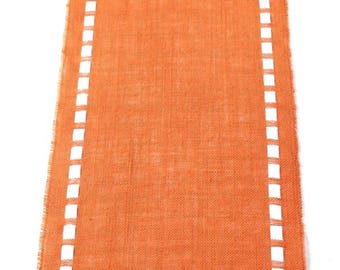 Mother's Day Table Runner - Orange Burlap Table Runner - Instant Home Update - New Decoration for Your Celebration