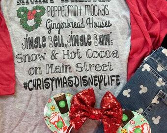 Disney Christmas Shirt, Mickey Wreath, Mickey Christmas, Disney World Christmas, Disneyland Christmas Shirt