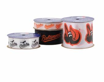 Offray MLB Baltimore Orioles Ribbon, 4 Pack - Licensed MLB Ribbon - 13 yards