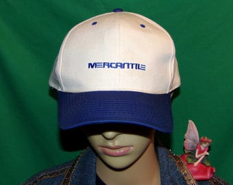 Mercantile Hat RARE Vintage Embroidered Baseball Cap Mercantile Bank, LOW & FAST Shipping