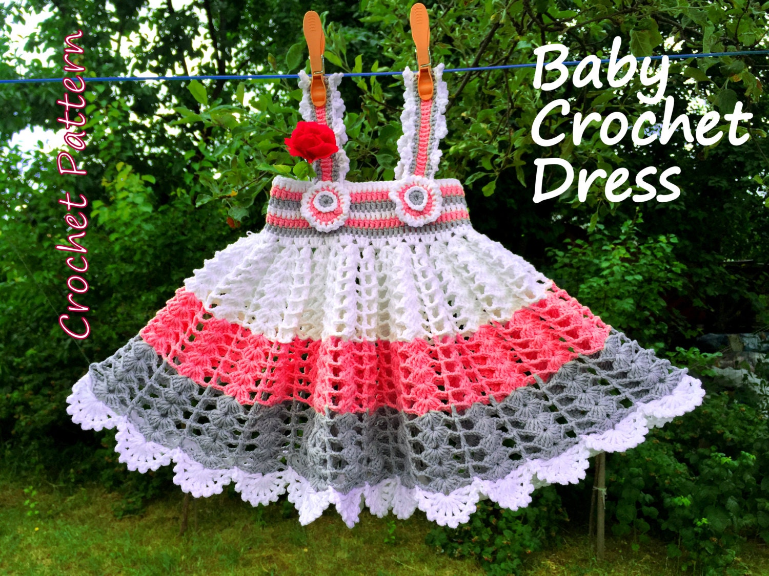Crochet pattern baby girl crochet dress newborn 3 9 months zoom bankloansurffo Choice Image