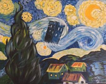 Starry Night with a Tardis