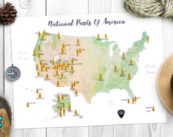 Scratch map Etsy