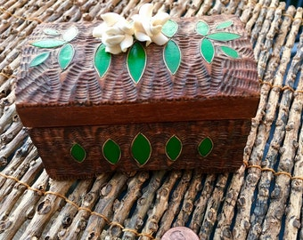 Hand Painted Wooden Forest Fairy Trinket Box
