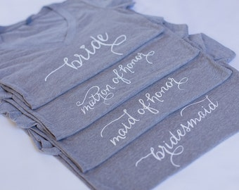 Bridal Party, Bride to Be, Bride Shirt, Bride tee, T-shirt, V-Neck, Gifts for Bride to be, Bridal Shower Gift, Bachelorette Party