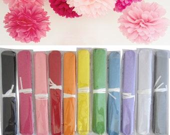 37cm Tissue Pom Pom, Choose Colour, Paper Poms for Wedding Party Decorations Hanging Pompoms Supplies