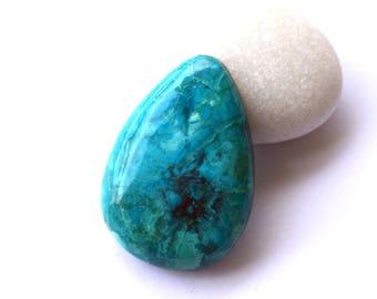 Chrysocolla natural stone Designer cabochon  32 x 23 x 7 mm