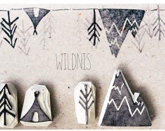 Handgeschnitze Stamp Wilderness, Tippy Tree Mountains