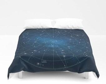 Duvet Cover, Constellation, Star Map, Astronomy, Astrology, Celestial Map, Star Chart, Space, Night Sky, Celestial Chart, Astronomer