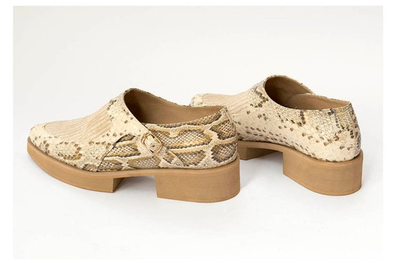 Shoes Handmade Buckle Side Oxford SALE Shoes Snakeskin Shoes Leather Women Leather Shoes Shoes Platform Shoes 85xzwgYUqn