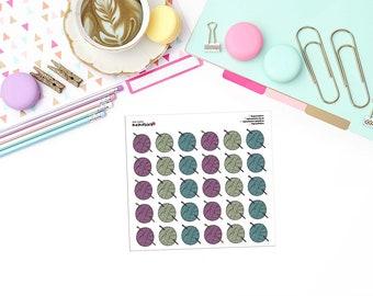 DOODLE CROCHET / YARN Paper Planner Stickers! - DOOD104