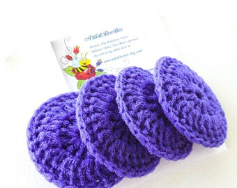 Nylon Pot Scrubber - Set of 2 through 8 - Royal Purple Dish Scrubbies