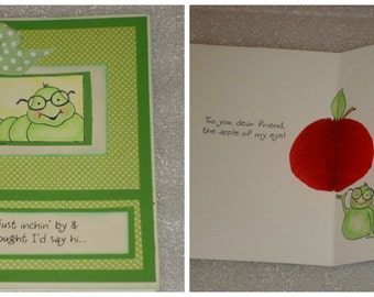 3D Honey Pop Up Apple Card All Occasion Teacher Appreciation Card