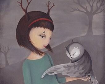 Acrylic painting - My Owl