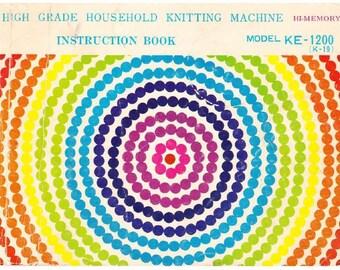 Juki Hi Memory KE1200 knitting machine Instruction Manual download PDF