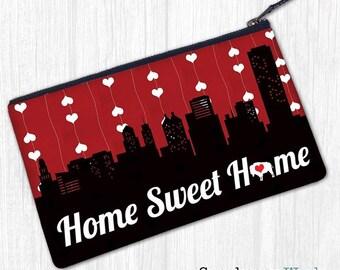 Buffalo, New York—Home Sweet Home—Clutch, Wristlet, Pouch, Zipper Bag, Pencil Case, Coin Purse